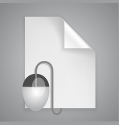 paper symbol mouse vector image vector image