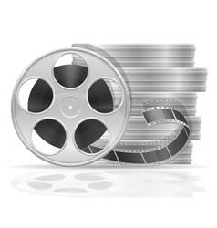 reel with cinema film stock vector image vector image