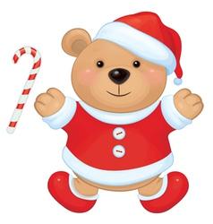 bear santa vector image