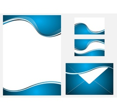 blue company identity template vector image