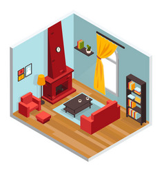 living room inerior concept vector image vector image