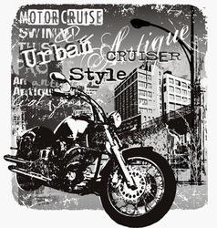 motorcruise urban style vector image vector image