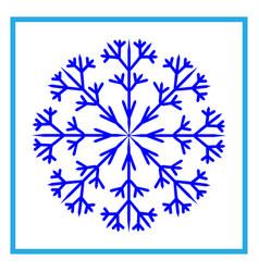 snowflake sign 2510 vector image