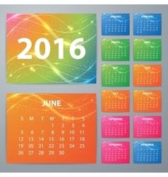 Stock Calendar for 2016 vector image vector image