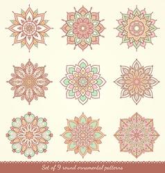 Watercolor hand drawn mandala vector image vector image