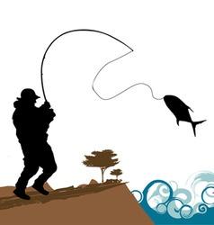 fisherman vector image