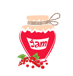 jar of red currant jam vector image vector image