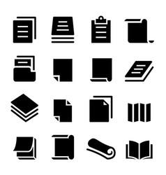 paper icon set vector image
