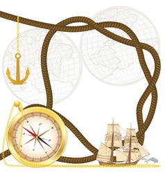 sea travel frame vector image vector image