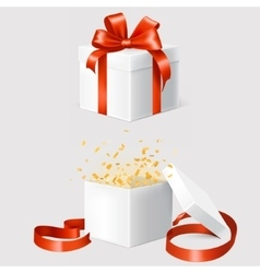 Set of two gift boxes vector image vector image