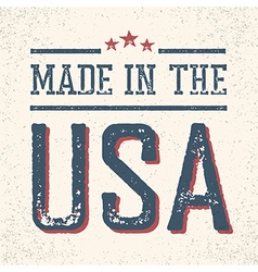 Vintage Made in the USA Stamp vector image