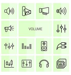 14 volume icons vector