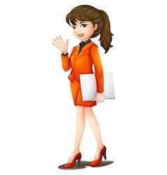 A busy woman vector image vector image
