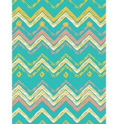 Abstract hand-drawn ethnic pattern tribal backgrou vector image