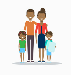 African american family happy smiling parents vector