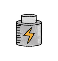 battery charging power sketch vector image