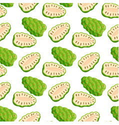 berries seamless pattern vegetarian with vector image