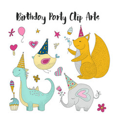 birthday party clip arts vector image