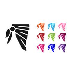Black bandana or biker scarf icon isolated on vector