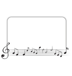 border template with music notes vector image