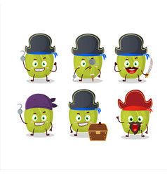 Character amla with various pirates emoticons vector