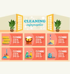 cleaning infographic flat vector image