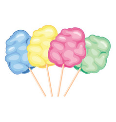 Colorful candy cotton vector