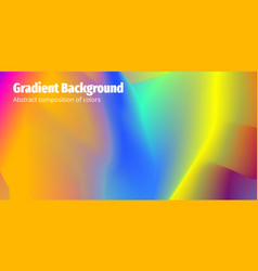 Colorful gradient abstract background modern vector