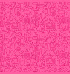 cosmetics line seamless pattern vector image
