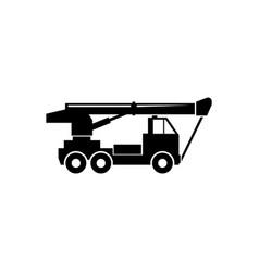 crane truck flat icon vector image