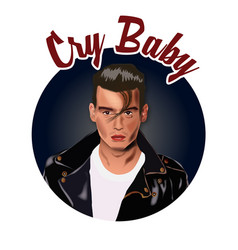 cry baby vector image