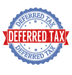 deferred tax stamp vector image