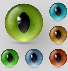 Eyes reptiles vector