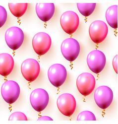 Festive color balloon party background texture vector