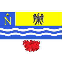 Flag of fontainebleau in seine-et-marne france vector