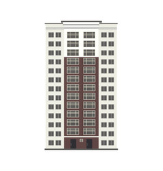 flat apartment residental building vector image