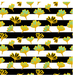 flower striped seamless pattern vector image