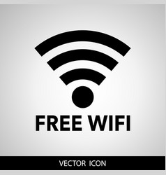 Free wifi black gray modern web-based design and vector