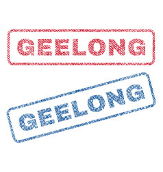 Geelong textile stamps vector