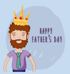 good man celebrating father day vector image