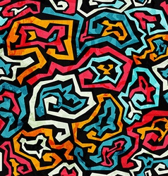 Graffiti grunge seamless pattern vector