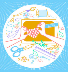 handmade crafts workshop vector image