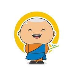 Happy Monk vector