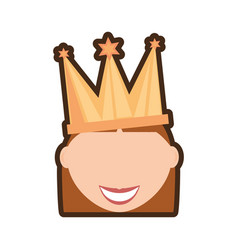 head girl crown celebration vector image