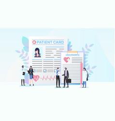 Health insurance program flat concept vector