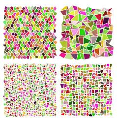 Irregular mosaic set stonework revetment elements vector