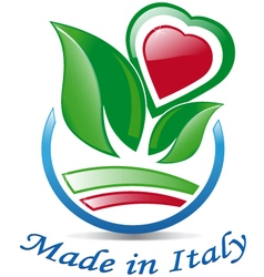 Italian heart among the leaves vector image