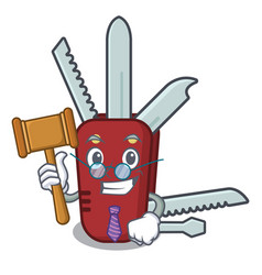 Judge penknife in a cartoon bag vector