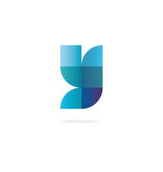Letter y logo design template elements vector
