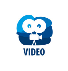 logo camcorder vector image